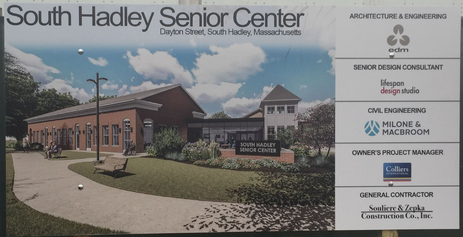 NEW SENIOR CENTER SIGN